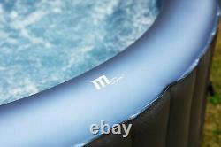 MSpa Bergen C-BE041 4 Person (2+2) Round Inflatable Hot Tub Spa Jacuzzi Premium