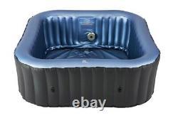 MSpa Tekapo (2+2) Four 4 Person Inflatable Hot Tub Jacuzzi Bubble Spa Square