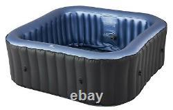 MSpa Tekapo C-TE041 (2+2) 4 Person Inflatable Hot Tub Jacuzzi Bubble Spa Square