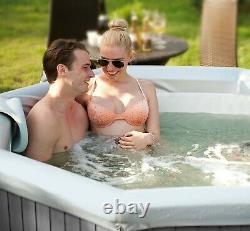 MSpa Tuscany Premium Bubble Hot Tub Spa Jacuzzi, 6 Person, 2 Year Warranty
