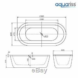 Modern Designer White Bathtub 1785x835mm Freestanding Bath