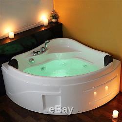 Modern Double End Whirlpool Shower Bath Massage Jet Corner Acrylic Bathtub CANNE