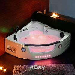 Modern Double End Whirlpool Shower Spa Bathroom Corner Jacuzzis Bath NoPRAGUE01