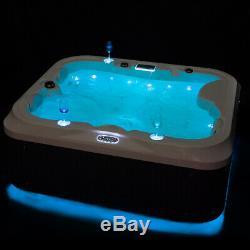 Modern Whirlpool Hot Tub Jacuzzis Hot Spa Massage Jets Bathtub 2Seats+1Lounger