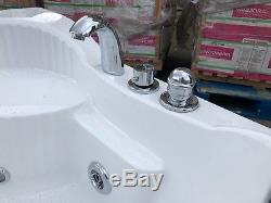 Modern Whirlpool Shower Spa Massage Bathroom Corner Bath Jets Panel