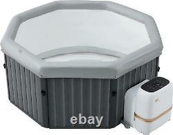 Mspa 2021 Frame Tuscany Bubble Spa 6 Bathers Portable Inflatable Hot Tub Jacuzzi