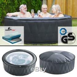 Mspa Mont Blanc Premium Self Inflatable Family Hot Tub Spa Jacuzzi 4 Bathers