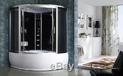 NEW 2018 STEAM SHOWER CUBICLE ENCLOSURE BATH CABIN 1500mm x 1500mmRadio 2061