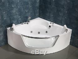 NEW 2018 WHIRLPOOL JACUZZI SPA CORNER BATH DOUBLE PILLOW 1500mm x 1500mm SICILY
