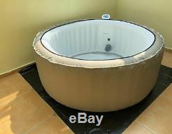 NEW VERSION Inflatable Bubble Jacuzzi Spa Portable Round Hot Tub with Zip Cover
