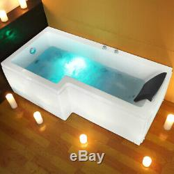 New L Shape Jacuzzi Shower SPA Bath Straight Bathtub Whirlpool Bathtub 1700mm