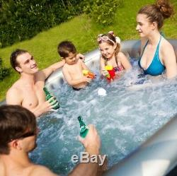 New Mspa Alpine Luxury Inflatable Hot Tub Bubble Spa- 3-6 Person Jacuzzi