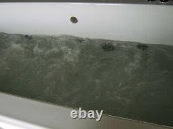 OCEAN Whirlpool Bath 10 Jet Chrome Double Ended 1800 x 800 Bath