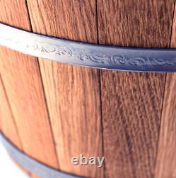 Oak Bucket 23L 6,6 Gal Wooden Bath Russian Banya Sauna Shower SPA Jacuzzi Wood