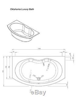Oklahoma Bow Fronted Bath Including Front & End Panels Whirlpool Airpool