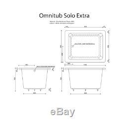 Omnitub Solo Extra Deep Soaking Bath 1150mm Length x 900mm Width x 600mm Depth