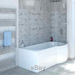 P Shape Whirlpool Shower Bath 11 Jets Screen with Towel Rail Jacuzzi Spa