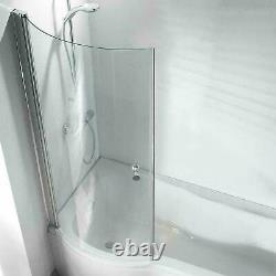 P Shape Whirlpool Showerbath Jacuzzi Style Jets Bath Screen Full Suite