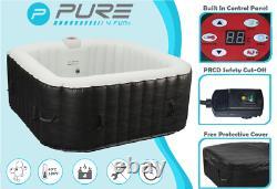 PURE Inflatable Hot Tub Jacuzzi Airjet Massage Spa Complete Set 4 Person