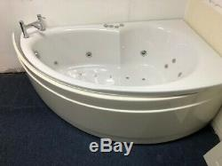 Phoenix corner whirlpool bath 15001000mm