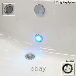 Quantum Duo 1900 x 900mm 24 Jet Whirlpool / Jacuzzi Bath & Light Double Ended