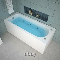 Rectangle Whirlpool Shower 13 Massage jets With Waste and Light Bathtub 1700 mm