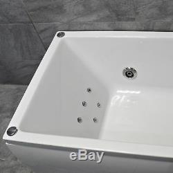 Sadie Slim Rim Square Whirlpool Jacuzzi Spa Bath 6 or 11 Jets Designer Style