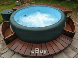 Soft-Tub 300 Hot Tub, Spa, Jacuzzi, Includes Wooden Deck, Step and Planters