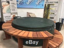 Softub T220 Legend Hot tub Green & Blue with Wooden Surrund Pre-Owned
