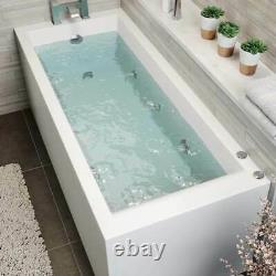 Solarna 1700 x 700 6 Jet Whirlpool Jazuzzi Spa Square Single Ended Bath