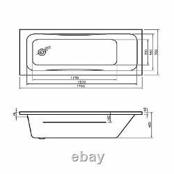 Solent Mia 1700x700 11 New Easy Clean Slimstyle Jets Jacuzzi Spa Bath