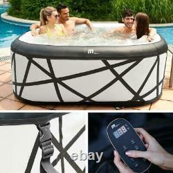 Square Mspa Soho Self Inflatable Hot Tub Spa Jacuzzi 6 Persons No Tools Need