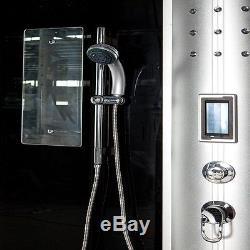 Steam Function Shower Cubicle Enclosure Bath Cabin with 8 Massage Jets Radio