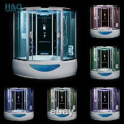 Steam Shower Room with Massage Jets Corner Shower Cabin Whirlpool Jacuzzi Bath