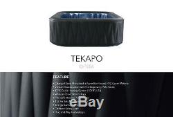 TEKAPO Family Inflatable Hot Tub Portable Spa Jacuzzi 6 Person Home Holiday Game