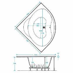 TROJAN LAGUNA 24 JET WHIRLPOOL 1200mm x 1200mm SPA BATH