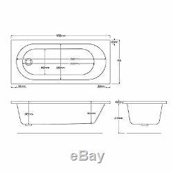 Trojan 1700 x 700mm 24 Jet Whirlpool Bath / Jacuzzi Bath