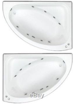 Trojan 8 Jet Orlando Whirlpool Offset Corner Bath White Acrylic Jacuzzi Spa