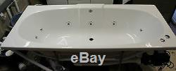 Trojan Algarve Whirlpool Bath 11 Jets Double Ended White 1700 x 750 Jacuzzi