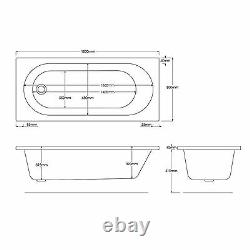 Trojan Cascade 1800 x 800mm 12 Jet Whirlpool / Jacuzzi Bath