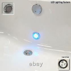 Trojan Laguna 1200 x 1200mm Corner 24 Jet Whirlpool / Jacuzzi Bath & LED Light