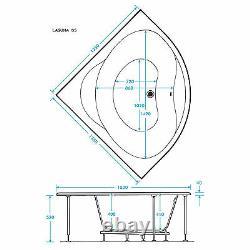 Trojan Laguna 1350 x 1350mm Corner 12 Jet Whirlpool / Jacuzzi Bath