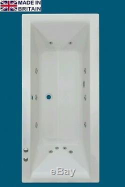Trojan Solarna 12 Jet Whirlpool Bath White Acrylic 1700 x 800 mm Jacuzzi Spa