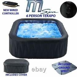 UND 2020 MSpa Tekapo 6-Person Inflatable Hot Tub Jacuzzi Spa Square