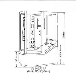 VASCA BAGNO E DOCCIA IDROMASSAGGIO CROMOTERAPIA mod. Kelly 170 x 90 cm SPA