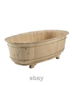 Vasca da bagno Vintage in legno Abete al grezzo cm 180x98 h 64 Bellissima