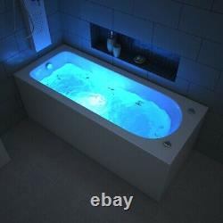 Virpol Single Ended Whirlpool Bath 13 Jets Jacuzzi Type Spa 1700 x 700mm Square