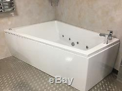 WB#4 1700mm Whirlpool 8 Jet Spa Corner 1300mm Double Ended Offset Shower Bath LH