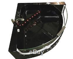 WHIRLPOOL BATH TUB SPA 140 x 140 cm CORNER BATH Black Shark BATHTUB HOT TUB