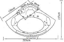 WHIRLPOOL BATH TUB SPA Barracuda CORNER BATH HOT TUB 150 x 150 cm BATHTUB SPA